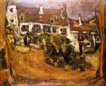 Chaim Soutine  - Bilder Gemälde - The Farm, Ile-de-France