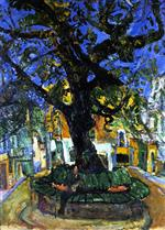 Chaim Soutine  - Bilder Gemälde - The Great Tree of Vence