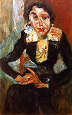 Chaim Soutine  - Bilder Gemälde - The Green Dress