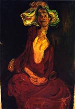 Chaim Soutine  - Bilder Gemälde - The Large Hat