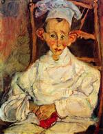 Chaim Soutine  - Bilder Gemälde - The Little Pastry Cook from Cagnes