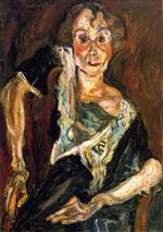 Chaim Soutine  - Bilder Gemälde - The Old Actress
