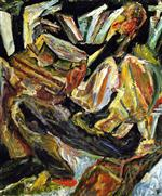 Chaim Soutine  - Bilder Gemälde - The Philosopher
