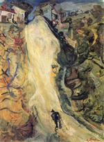 Chaim Soutine  - Bilder Gemälde - The Road Up