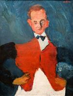Chaim Soutine  - Bilder Gemälde - The Room-Service Waiter