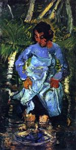 Chaim Soutine  - Bilder Gemälde - Thérèsa by the River
