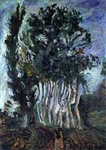 Chaim Soutine  - Bilder Gemälde - Trees at Champigny