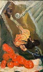 Chaim Soutine  - Bilder Gemälde - Turkey and Tomatoes