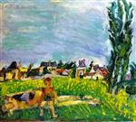 Chaim Soutine  - Bilder Gemälde - Two Children at Champigny Under a Blue Sky