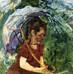 Bild:Woman with an Umbrella
