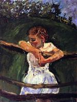 Bild:Young Girl at Fence