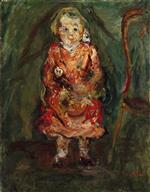 Chaim Soutine  - Bilder Gemälde - Young Girl with a Doll