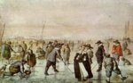 Hendrick Avercamp - paintings - Fun on the Ice