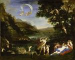 Francesco Albani  - Bilder Gemälde - Story of Venus - Adonis Led by Cupids to Venus