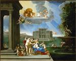 Francesco Albani  - Bilder Gemälde - Story of Venus - The Toilet of Venus