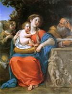 Francesco Albani  - Bilder Gemälde - The Holy Family