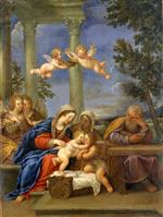 Francesco Albani  - Bilder Gemälde - The Holy Family with St Elisabeth and St John the Baptist