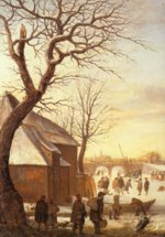 Hendrick Avercamp - paintings - Winter Landscape