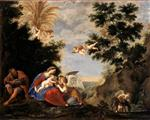 Francesco Albani  - Bilder Gemälde - The Rest during the Flight into Egypt