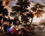 Francesco Albani  - Bilder Gemälde - The Virgin Visited by Angels during the Flight into Egypt