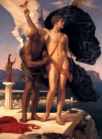Lord Frederic Leighton - paintings - Daedalus and Icarus