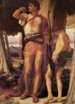 Lord Frederic Leighton - paintings - Jonathan's Token to David