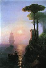 Ivan Aivazovsky  - Bilder Gemälde - Misty Morning in Italy