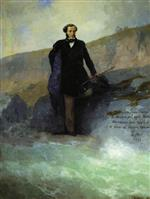 Ivan Aivazovsky  - Bilder Gemälde - Pushkin on the Black Sea Coast