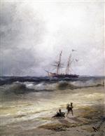 Ivan Aivazovsky  - Bilder Gemälde - Ship at Sea