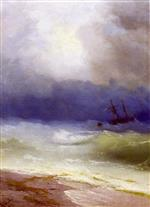 Ivan Aivazovsky  - Bilder Gemälde - Storm on the Sea