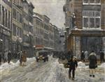Paul Gustave Fischer - Bilder Gemälde - A Winter's Day