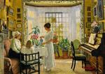 Paul Gustave Fischer - Bilder Gemälde - Afternoon Tea