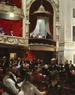 Paul Gustave Fischer - Bilder Gemälde - An Evening at the Royal Theatre Copenhagen
