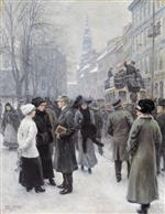 Paul Gustave Fischer - Bilder Gemälde - At the Holy Spirit Church Copenhagen