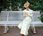 Paul Gustave Fischer  - Bilder Gemälde - Lady on a Bench