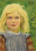 Paul Gustave Fischer  - Bilder Gemälde - Portrait of a Young Girl-2