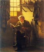 John George Brown - Bilder Gemälde - An Idle Hour