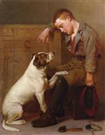 John George Brown - Bilder Gemälde - Best Friends