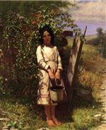 John George Brown - Bilder Gemälde - Blackberry Picking