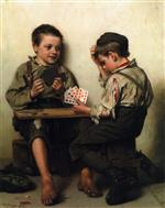 John George Brown - Bilder Gemälde - Bluffing