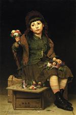 John George Brown - Bilder Gemälde - Buy a Posy