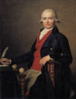 Jacques Louis David - Bilder Gemälde - Portrait von Gaspar Mayer