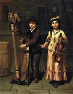 John George Brown  - Bilder Gemälde - The Two Musicians