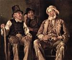 John George Brown  - Bilder Gemälde - Three Old Codgers