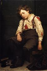 John George Brown  - Bilder Gemälde - Tuckered Out