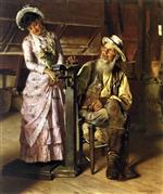 John George Brown  - Bilder Gemälde - Weighed at the Mill