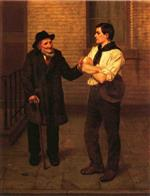 John George Brown  - Bilder Gemälde - When I Was Young