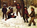 John George Brown  - Bilder Gemälde - Winter Games