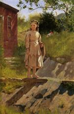 John George Brown  - Bilder Gemälde - Young Girl