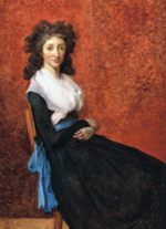 Jacques Louis David - Bilder Gemälde - Portrait von Louise Trudaine